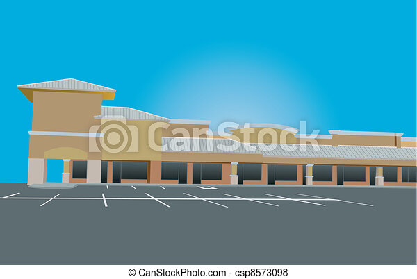 tin roof strip mall - csp8573098