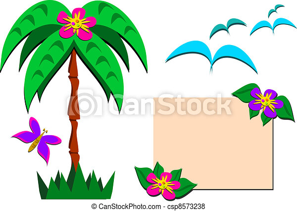 Mix of Tropical Pictures - csp8573238