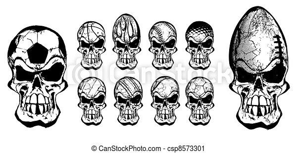 ball skulls - csp8573301