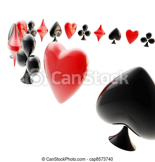 Background made of playing card suits - csp8573740