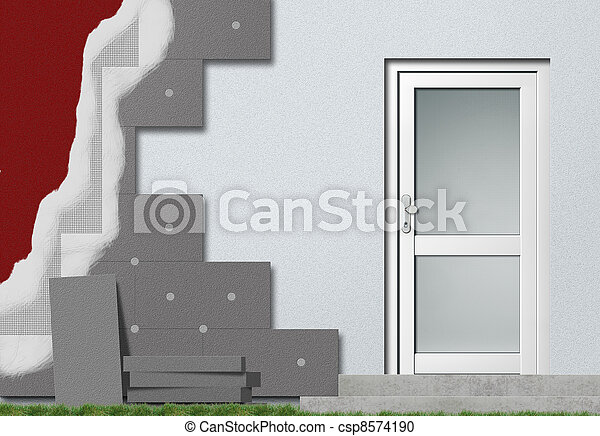 Fassadendaemmung - csp8574190
