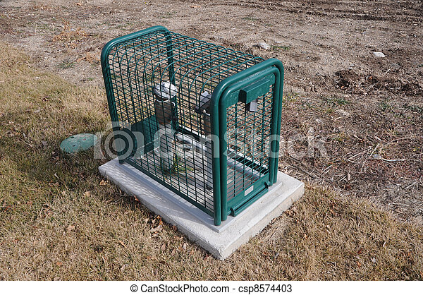 Rubberized Steel Cage to Protect Road-side Utilities - csp8574403