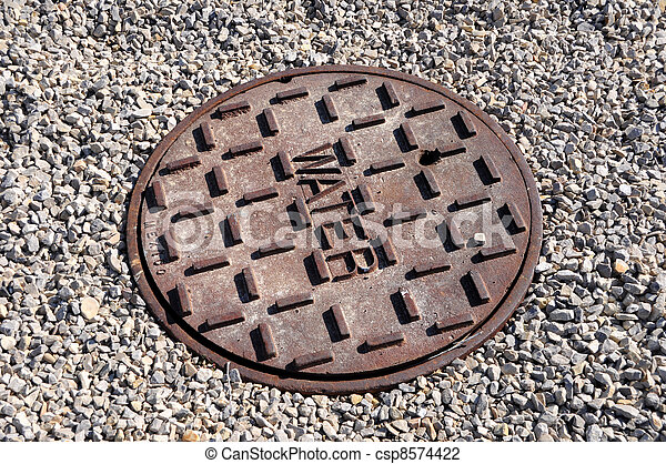 Cast Iron Cover for Water Utility Access - csp8574422