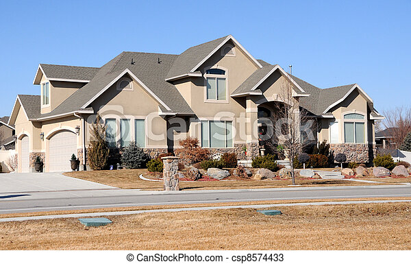 Home in the Suburbs - csp8574433