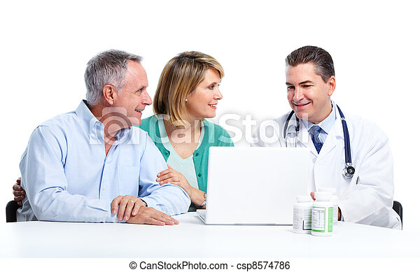 Doctor and patient senior couple. - csp8574786