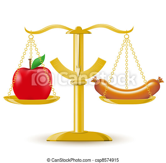 scales choice diet or obesity - csp8574915