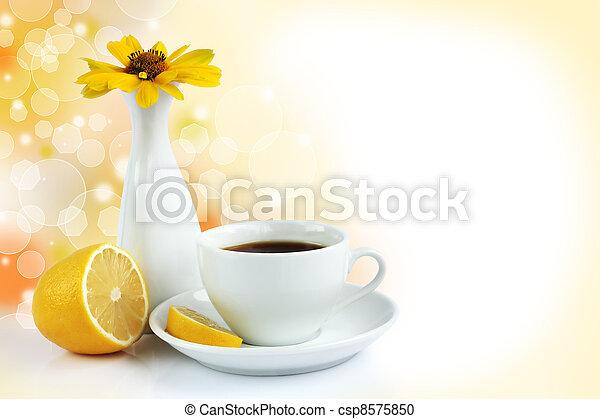 cup of tea with lemon - csp8575850