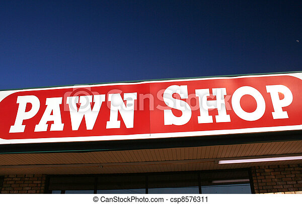 Pawn Shop Sign - csp8576311