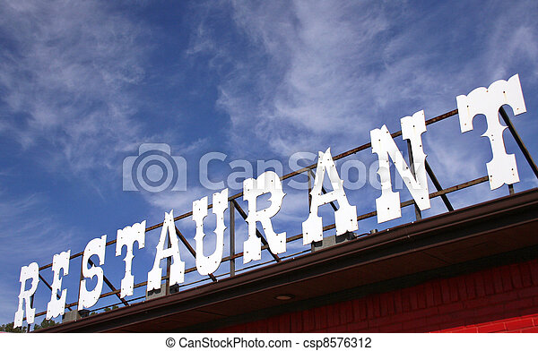 Restaurant Sign - csp8576312