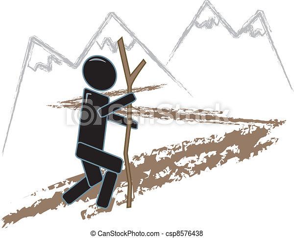 Simple Figure Hiking - csp8576438