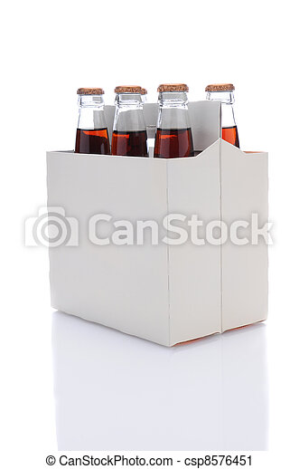 Six Pack of Cola Soda Bottles - csp8576451