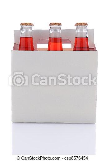 Six Pack of Strawberry Soda Bottles - csp8576454