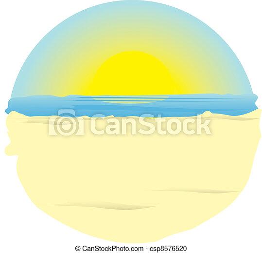 sunrise on ocean. - csp8576520