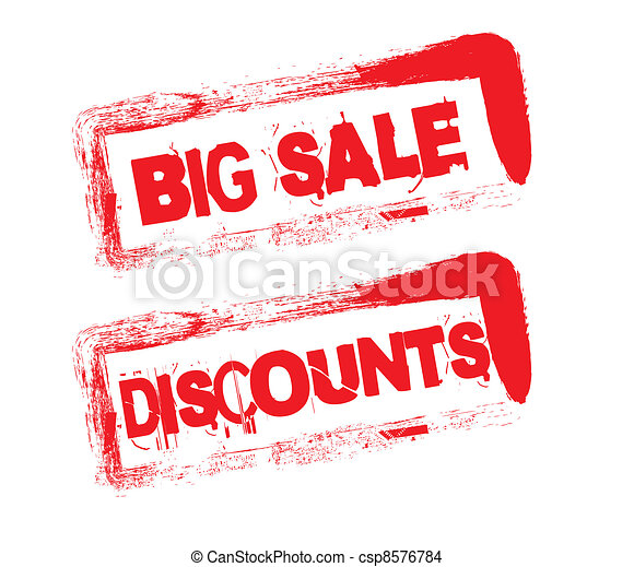 big sale stamp - csp8576784