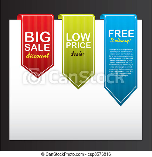 colorful tags - csp8576816