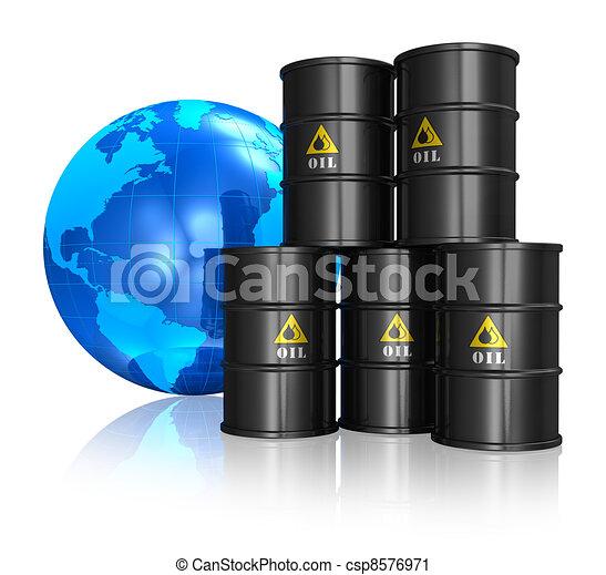 Oil trading concept - csp8576971