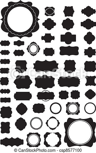 Silhouette Vector set of 50 frames  - csp8577100