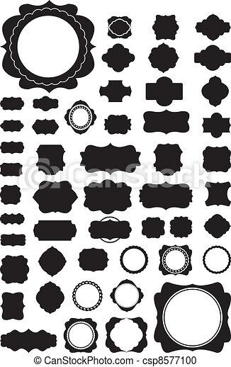 Silhouette Vector set of 50 frames  - csp8577100