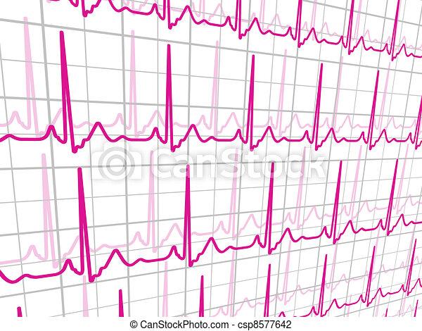 Heart beats cardiogram. EPS 8  - csp8577642