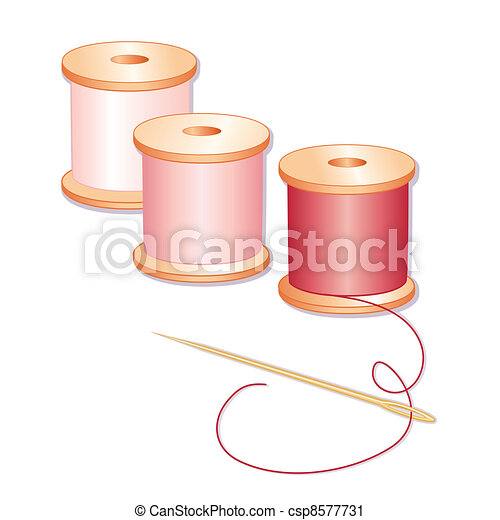 Needle and Threads - csp8577731