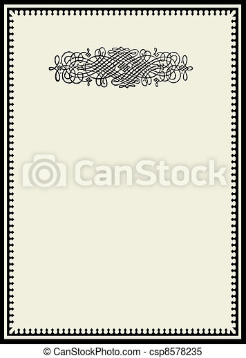 Vector Vintage Ornament and Frame - csp8578235