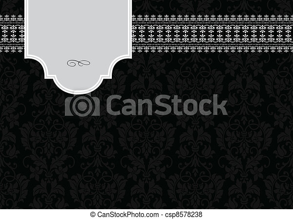 Vector Petite Frame and Border - csp8578238