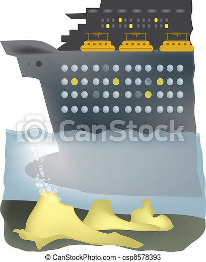 Ship runs aground - csp8578393