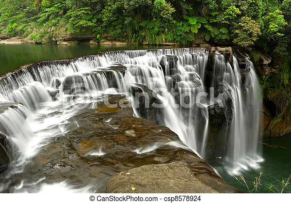 waterfall in shifen taiwan - csp8578924