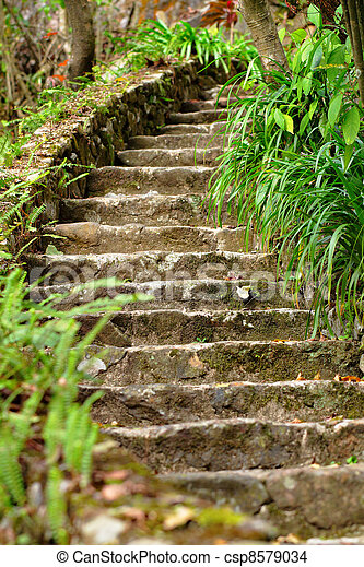 stone stair outdoor - csp8579034
