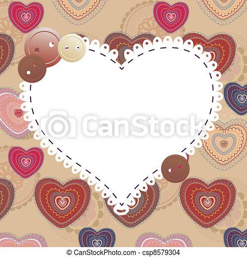 valentine's day greeting card - csp8579304