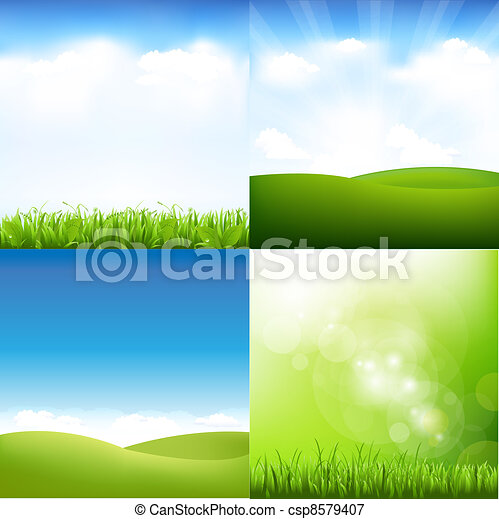 Grass And Sky Set - csp8579407