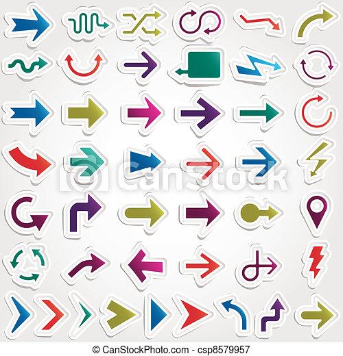 vector arrows set - csp8579957