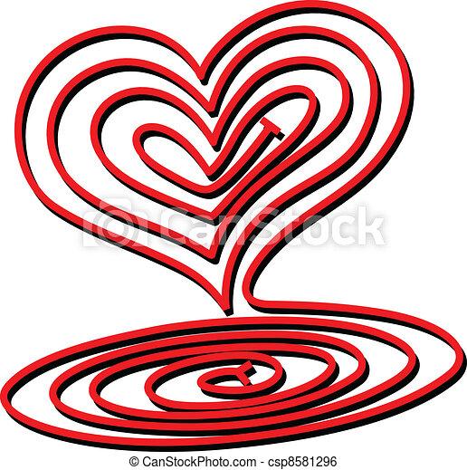 Heart Spiral - csp8581296