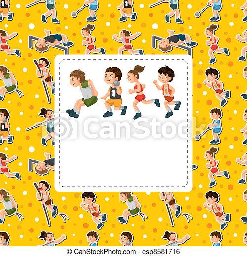 sport player card - csp8581716