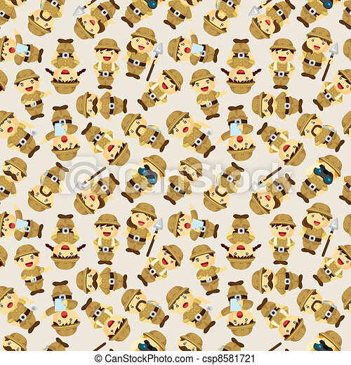 Adventurer people seamless pattern - csp8581721