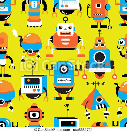 seamless robot pattern - csp8581724