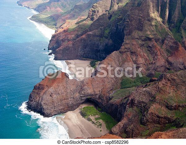 Na Pali coast of Kauai - csp8582296