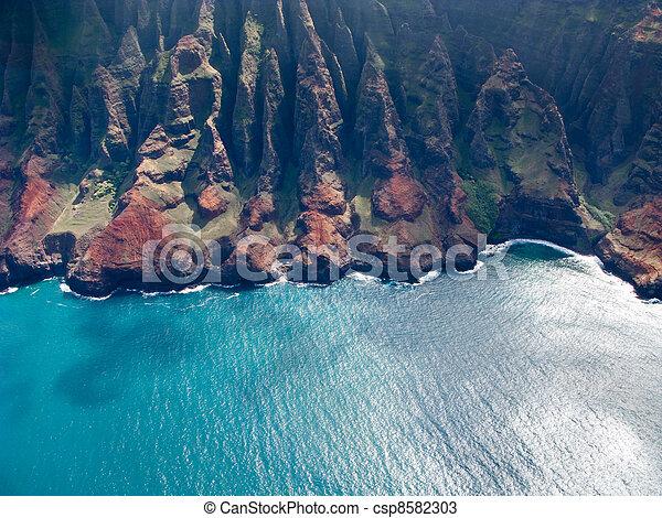 Na Pali coast of Kauai - csp8582303