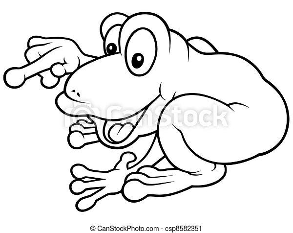 Cheerful Frog - csp8582351
