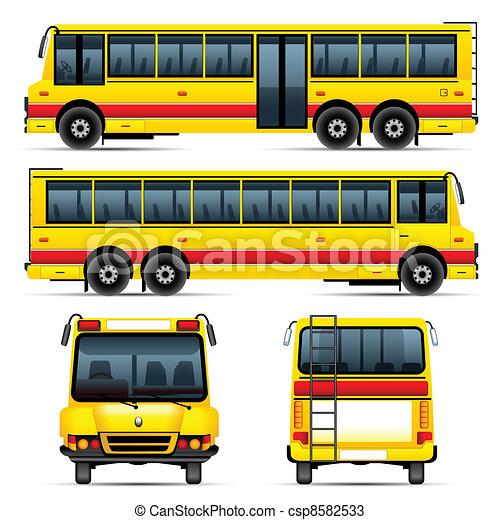 School Bus Drawings School Bus Csp8582533