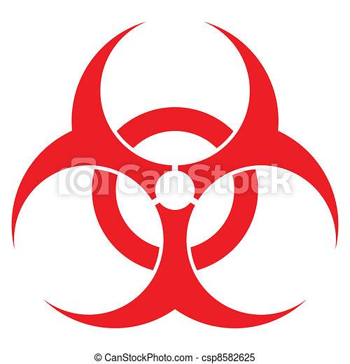Clipart Vector of biohazard sign, vector format, for health ...