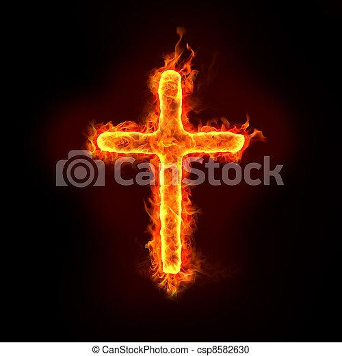 christian cross - csp8582630