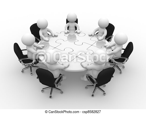 Round table - csp8582827