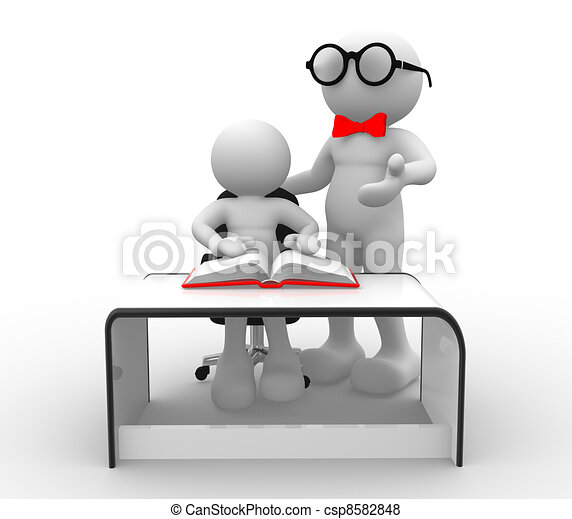 Teacher and student - csp8582848