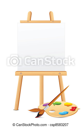 Easel with Color Palette - csp8583207