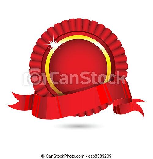 Ribbon Badge - csp8583209