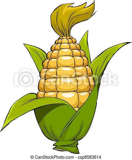 maíz, caricatura - csp8583614