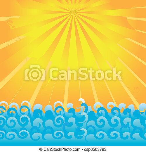 sunrise on ocean. - csp8583793