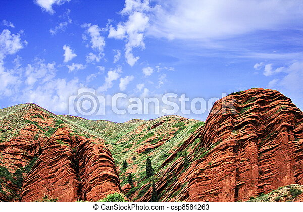 Sandstone rock formations - csp8584263