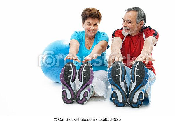 stretching exercise - csp8584925